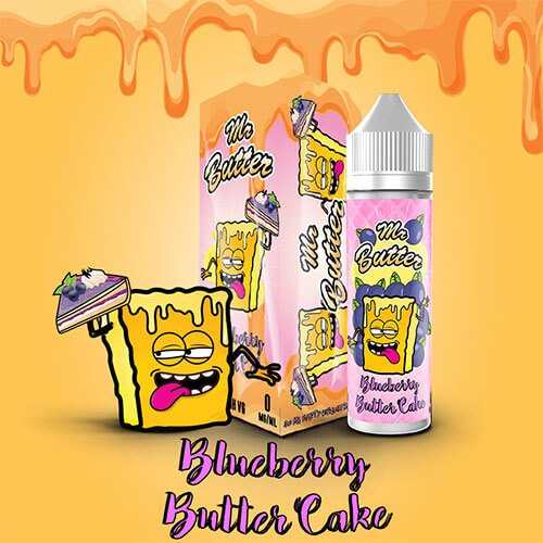 Blueberry Butter Cake 60ml eLiquid by Mr Butter Neu