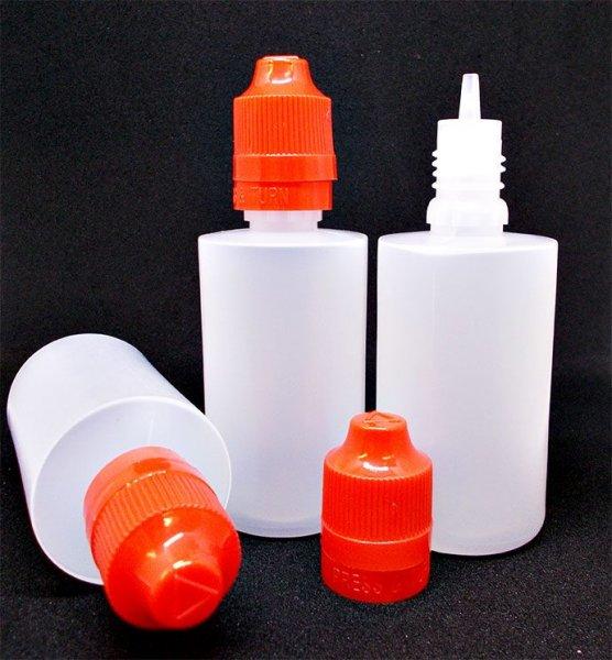 Tropfflasche Leerflasche mit Kinder- und Qualitätssicherung- 3er SET 50ml