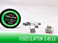 Prebuilt Fused Clapton Coil 0,45 Ohm