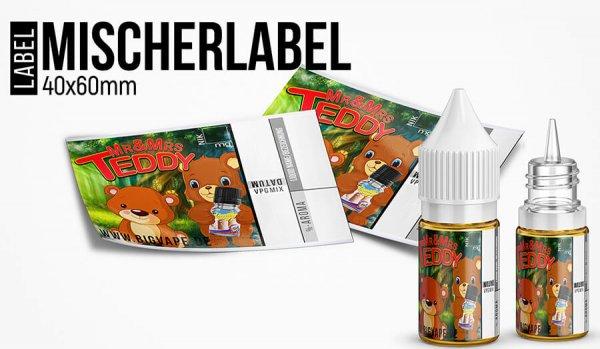 """""""Mischerlabel- Mr&Mrs Teddy"""" - High Gloss Etikett für Leerflaschen"""
