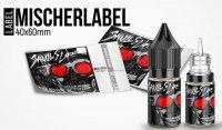 """""""Mischerlabel- Skulls Life"""" - High Gloss Etikett für Leerflaschen"""