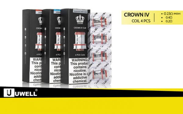 Crown 4 Coils 4er Pack | Verdampferköpfe- by UWELL