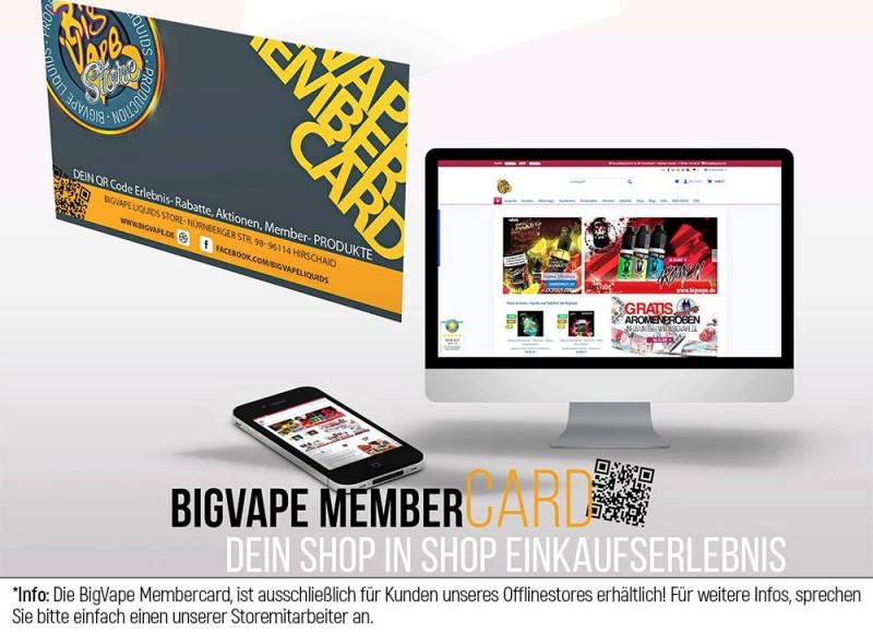 BigVape Liquids Membercard