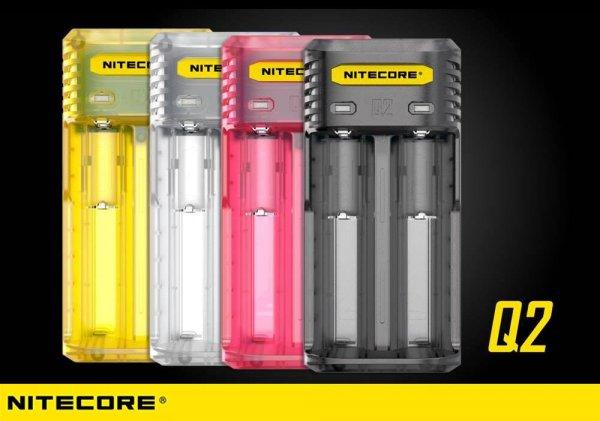 Nitecore Q2 Schnellladegerät für Li-Ion Akkus - 4 Farben