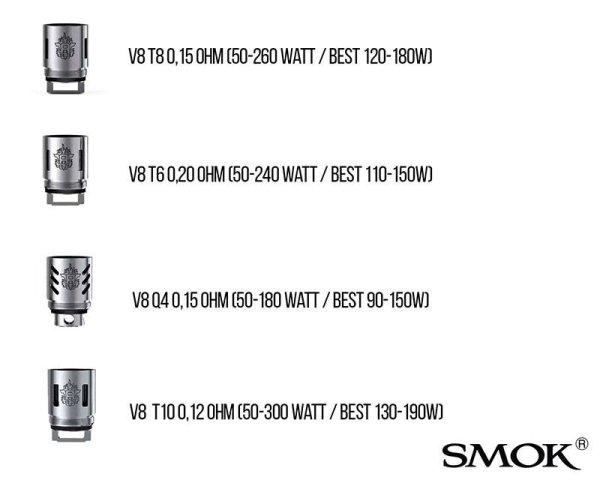 Smok Tech TFV8 T6 / T8 / T10/ Q4 Verdampferköpfe