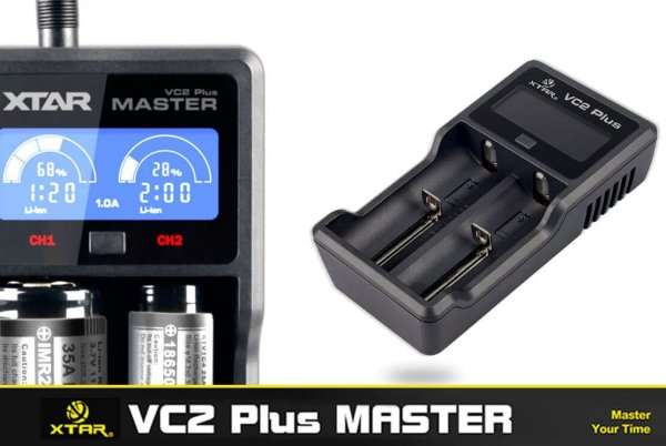 XTAR VC2 Master Plus Ladegerät für Li-ion/ Ni-MH Akkus