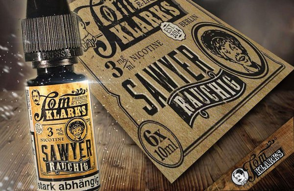 "Tom Sawyer Frucht-RAUCHIG ""eLiquid""- von Tom Klark"