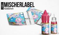 """""""Mischerlabel- Unicorn Clouds"""" - High Gloss Etikett für Leerflaschen"""