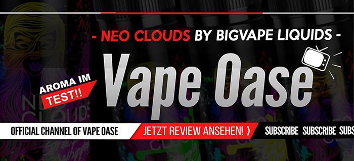 NEO Clouds Aromen- Review von Vape Oase bei Youtube